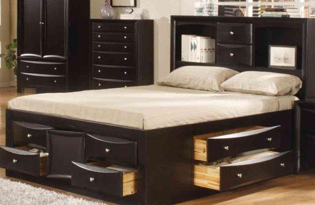 Các mẫu giường ngủ có ngăn kéo đẹp giá rẻ