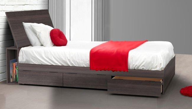 Giường có hộc tủ kéo đựng đồ