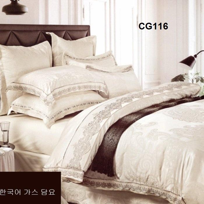 Bộ chăn ga gối Hàn Quốc 4 chiếc VIP CG116