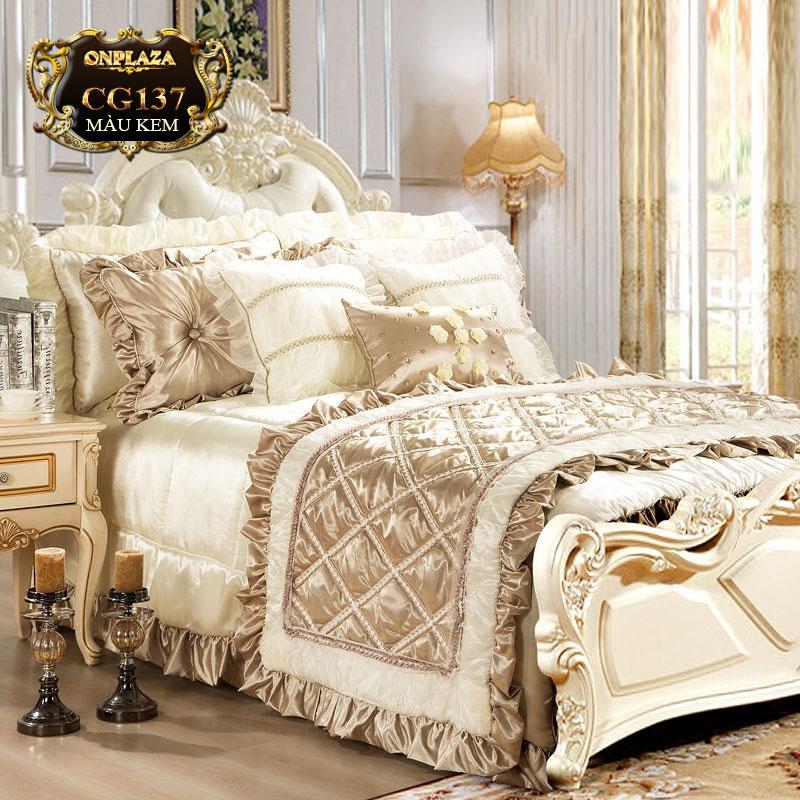 Bộ ga giường HQ 10 món cao cấp tinh tế CG137