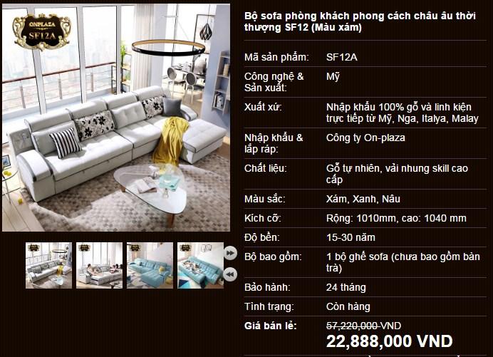 Bộ sofa phòng kháchchâu âu thời thượng SF12