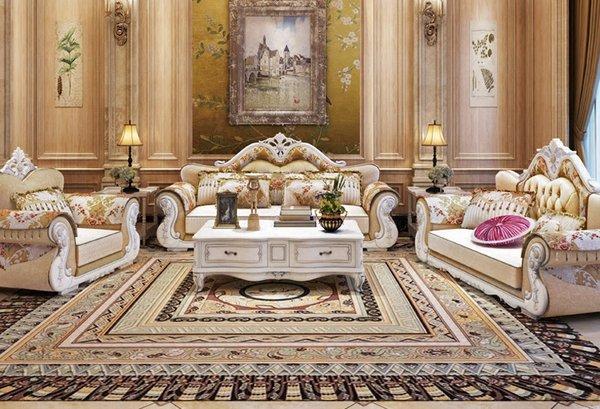 Mẫu bàn ghế thiết kế theo phong cách tân cổ điển cực kỳ sang trọng BT21; Giá: 73.020.000 VNĐ