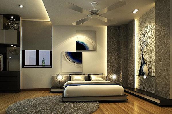 Thiết kế phòng ngủ sang trọng hiện đại