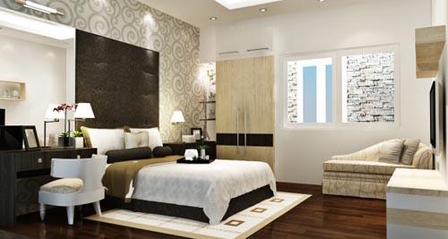 Thiết kế phòng ngủ sang trọng hiện đại đẳng cấp